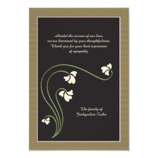 Cartões de agradecimentos do falecimento convite 8.89 x 12.7cm