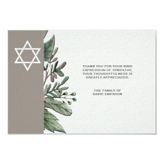 Cartões de agradecimentos do falecimento da convite 8.89 x 12.7cm