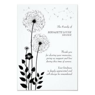 Cartões de agradecimentos do falecimento das convite 8.89 x 12.7cm