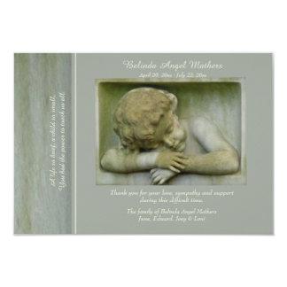 Cartões de agradecimentos do falecimento do anjo convite 8.89 x 12.7cm
