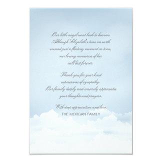 Cartões de agradecimentos do falecimento do céu convite 8.89 x 12.7cm