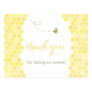 cartões de agradecimentos do favo de mel, obrigado