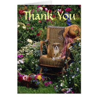 Cartões de agradecimentos do filhote de cachorro