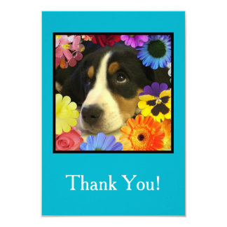Cartões de agradecimentos do filhote de cachorro e convite 8.89 x 12.7cm