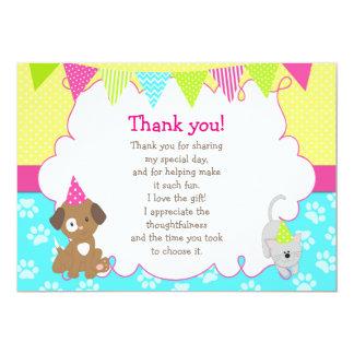 Cartões de agradecimentos do filhote de cachorro e convite 12.7 x 17.78cm