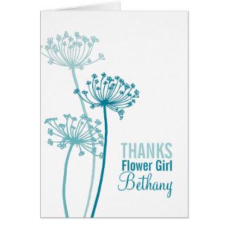 Cartões de agradecimentos do florista do aqua da