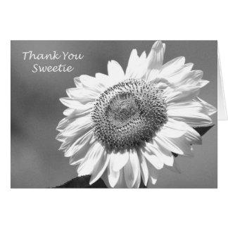 Cartões de agradecimentos do florista do girassol