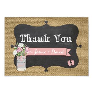 Cartões de agradecimentos do frasco de pedreiro de