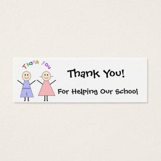 Cartões de agradecimentos do Fundraiser da escola