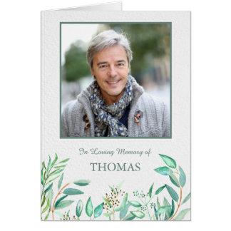 Cartões de agradecimentos do funeral da aguarela