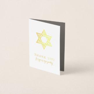 Cartões de agradecimentos do funeral da estrela de