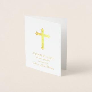 Cartões de agradecimentos do funeral da folha da