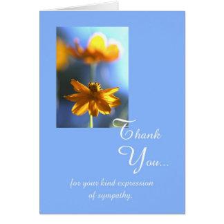 Cartões de agradecimentos do funeral da simpatia