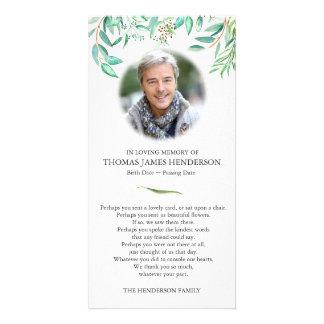 Cartões de agradecimentos do funeral do eucalipto