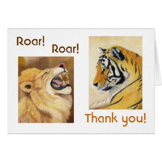 Cartões de agradecimentos do gato grande