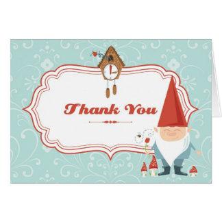 Cartões de agradecimentos do gnomo