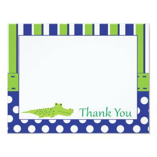 Cartões de agradecimentos do jacaré