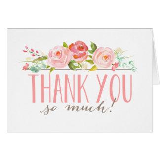 Cartões de agradecimentos do jardim de rosas |