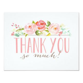 Cartões de agradecimentos do jardim de rosas | convite 10.79 x 13.97cm