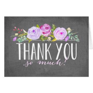 Cartões de agradecimentos do jardim de rosas | do