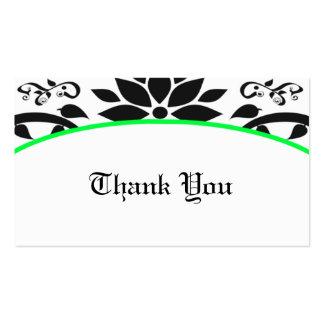 Cartões de agradecimentos do jardim decorativo cartão de visita