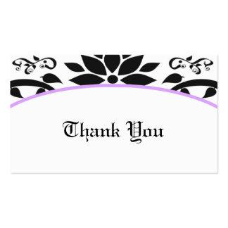 Cartões de agradecimentos do jardim decorativo la modelos cartao de visita