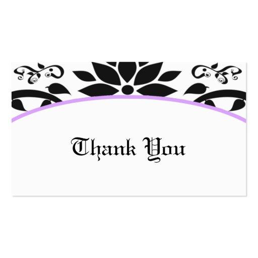 Cartões de agradecimentos do jardim decorativo (la modelos cartao de visita