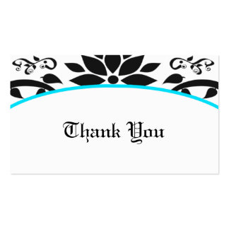 Cartões de agradecimentos do jardim decorativo (lu modelos cartoes de visita