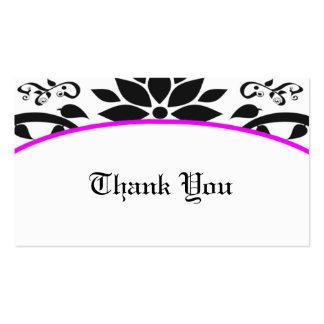 Cartões de agradecimentos do jardim decorativo ro cartões de visitas