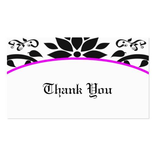 Cartões de agradecimentos do jardim decorativo (ro cartões de visitas