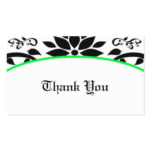 Cartões de agradecimentos do jardim decorativo (ve modelo cartões de visitas