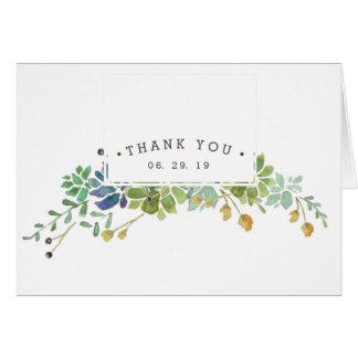 Cartões de agradecimentos do jardim | do Succulent