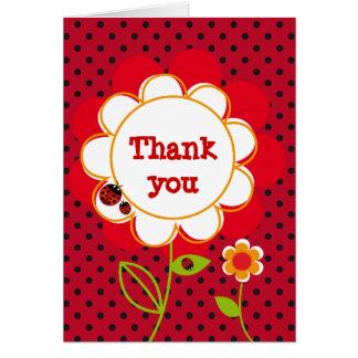 Cartões de agradecimentos do joaninha