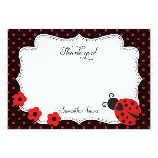 Cartões de agradecimentos do joaninha convite 8.89 x 12.7cm