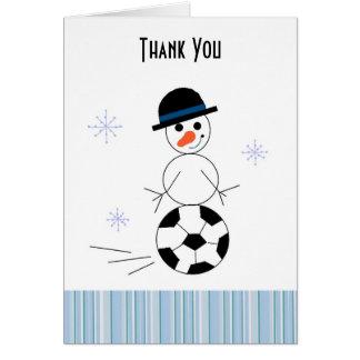 Cartões de agradecimentos do jogador de futebol do