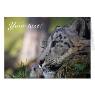 Cartões de agradecimentos do leopardo de neve