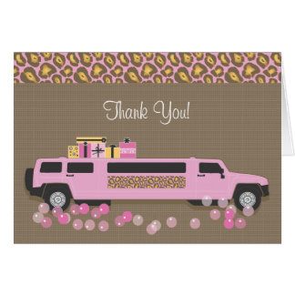 Cartões de agradecimentos do Limo