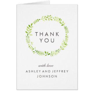 Cartões de agradecimentos do louro da aguarela