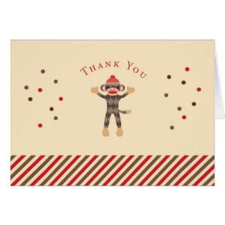 Cartões de agradecimentos do macaco da peúga