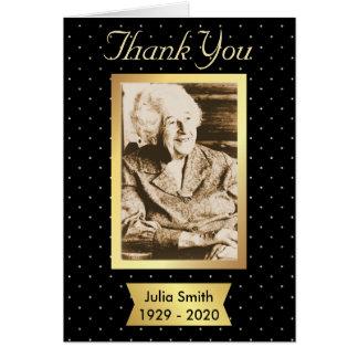 Cartões de agradecimentos do memorial do preto