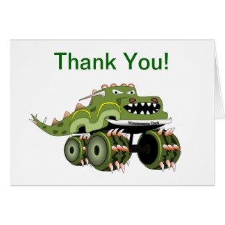 Cartões de agradecimentos do monster truck do