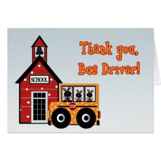 Cartões de agradecimentos do motorista de auto
