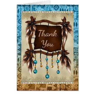 Cartões de agradecimentos do nativo americano