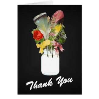 Cartões de agradecimentos do nativo americano com