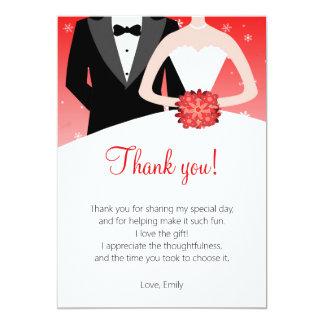 Cartões de agradecimentos do noivo da noiva