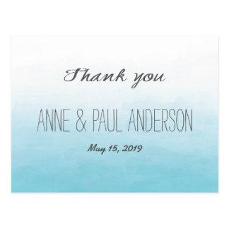 Cartões de agradecimentos do ombre da praia cartão postal