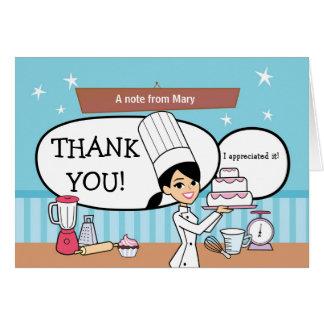 Cartões de agradecimentos do padeiro