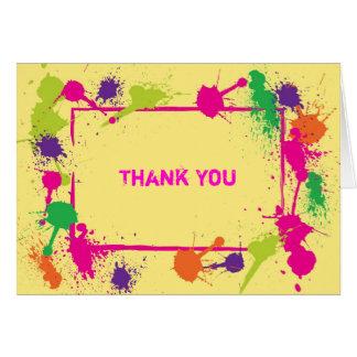 Cartões de agradecimentos do Paintball