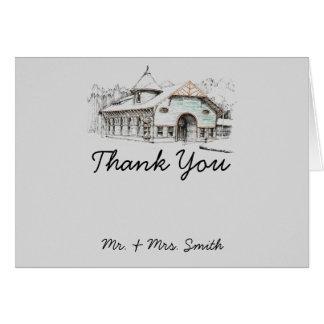 Cartões de agradecimentos do país do esboço do