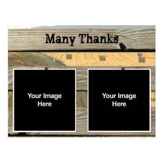 Cartões de agradecimentos do papel de carta do cartão postal